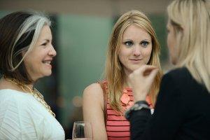 Inspiring girls to aspire to entrepreneurship - image - women talking in a group of three