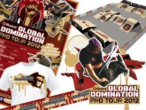 Designers, Toys and Greeting Cards- Entrepreneurial Artists - image - global domination pro tour poster, t-shirt and layout